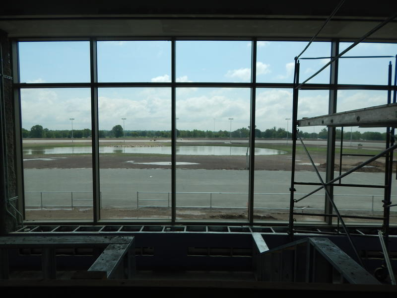The race track at the north Dayton racino under construction in 2014. Racino owner Penn National can't agree with the state of Ohio on a relocation payment to the city of Dayton.
