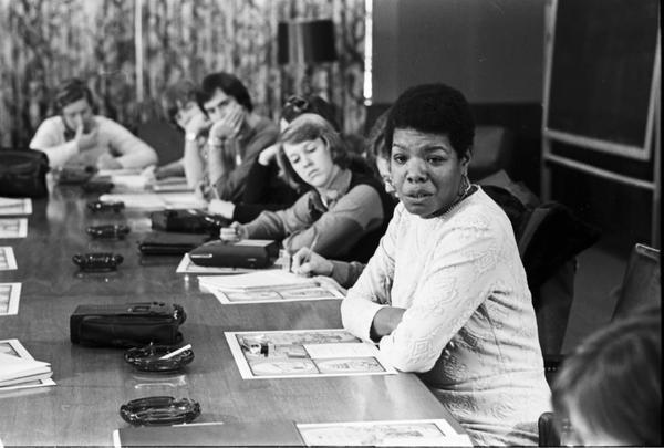 Maya Angelou at Indiana University in 1975