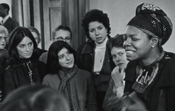 Maya Angelou at Smith College in 1975