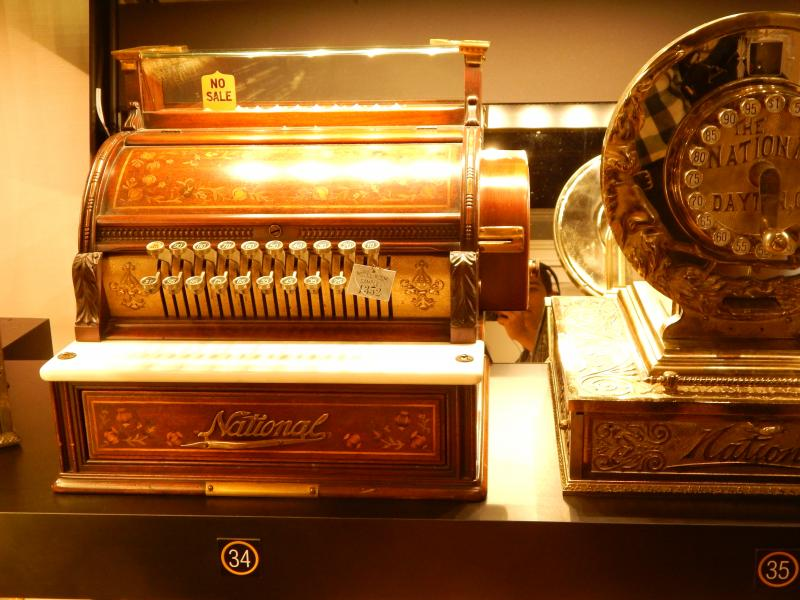 An old NCR cash register on display at Dayton History