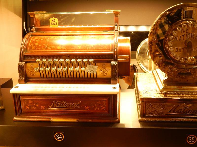 An old NCR cash register on display at Dayton History