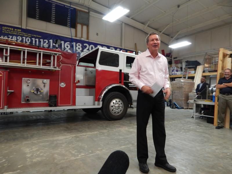 Governor John Kasich made a campaign stop in Beavercreek Tuesday.