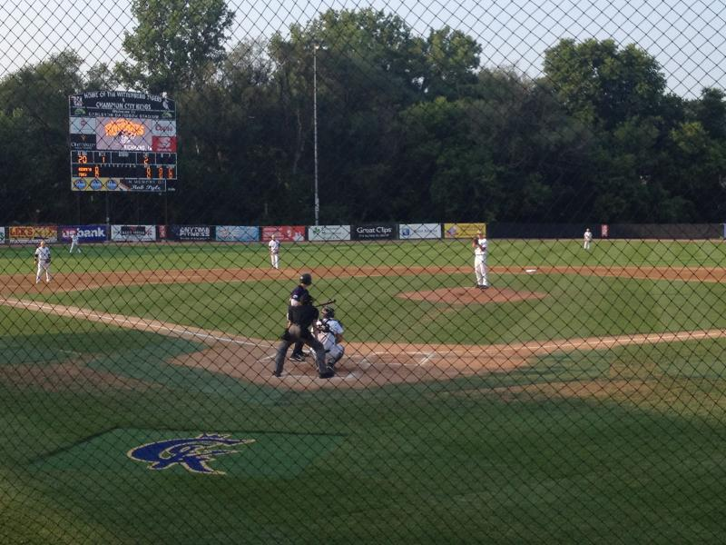 The Springfield Champion City Kings dedicated a new scoreboard Thursday night