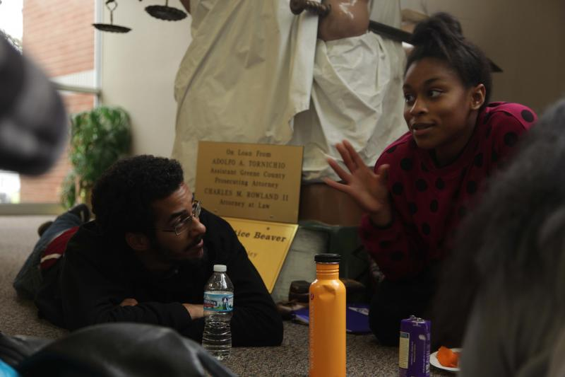 Members of the Ohio Student Association have been camped out at the Beavercreek police station since Monday.