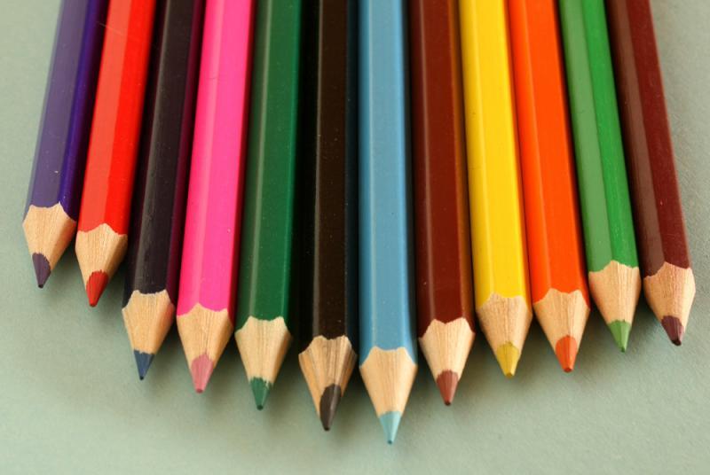 colored penciles, education, art