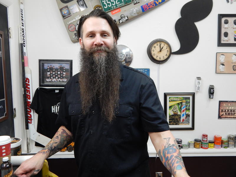 James Hicks is the Bearded Barber.