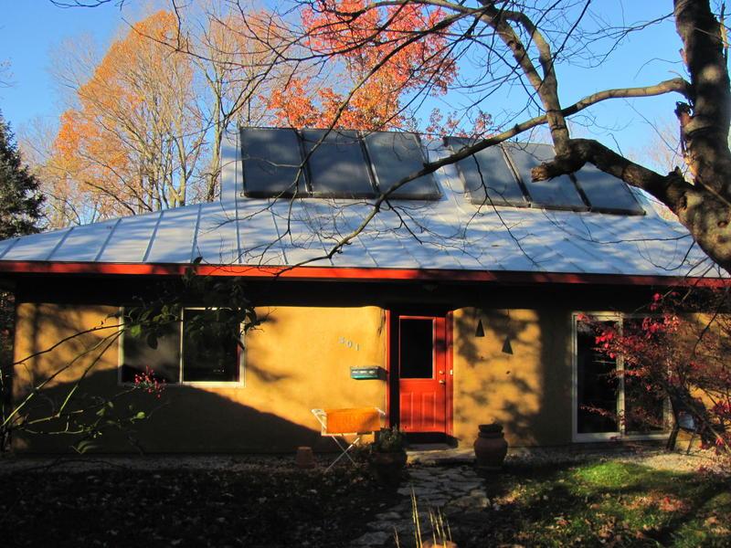 Bob Brecha's strawbale house