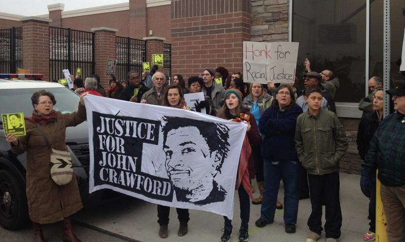 Two recent protests over the police killing of John Crawford III were the first ones to lead to arrests. walmart protest