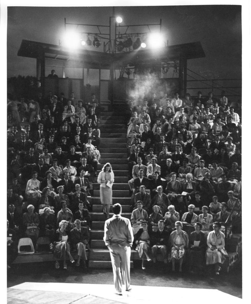 The Antioch College amphitheater in the 1960s