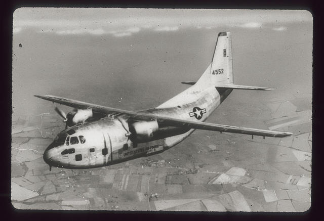 A C-123 image from an old Air Force training slide.