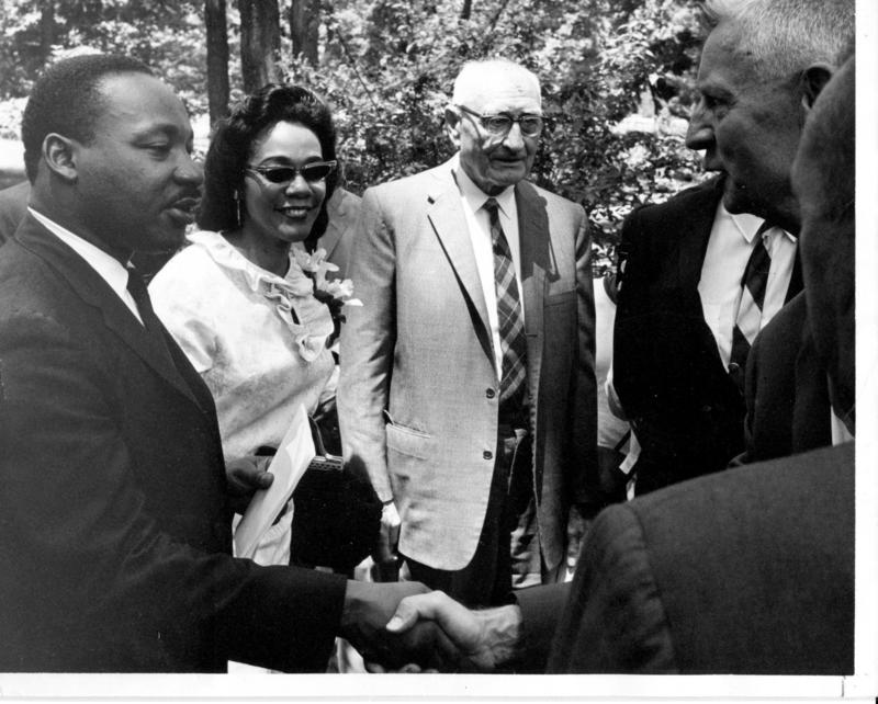 Dr. Martin Luther King Jr, Coretta Scott King and Arthur Morgan at Antioch College