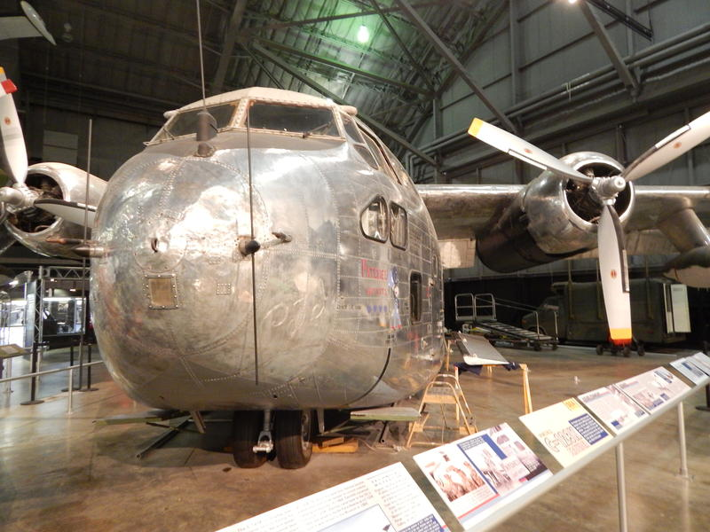 """Patches"" is one of the C-123 cargo planes used to spray Agent Orange. It's now on display at the National Museum of the U.S. Air Force."