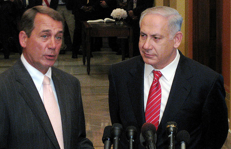 House Speaker John Boehner of Ohio's 8th District, with Israeli Prime Minister Benjamin Netanyahu.