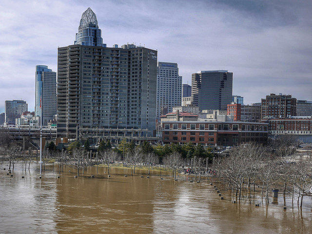 """Great Flood of 2015"" picture posted on Flickr. Areas near Cincinnati were flooded for days following spring rains."