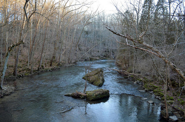 A January view of John Bryan State Park near Yellow Springs.