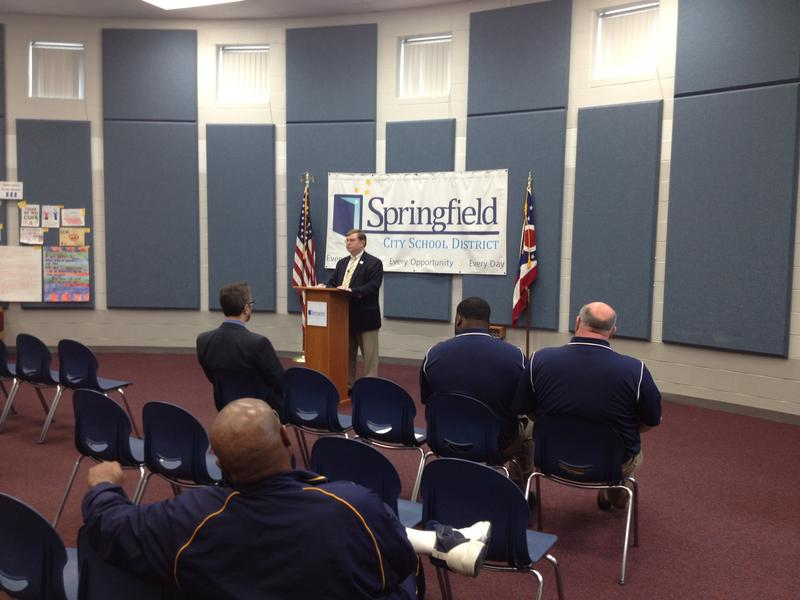 Springfield City Schools Superintendent Dr. David Estrop discusses alleged theft by members of the boys basketball team while they played in the postseason at Xavier University.