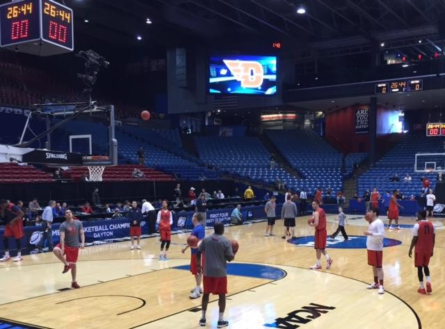 The UD Flyers hit the court at University of Dayton Arena Tuesday afternoon for practice.