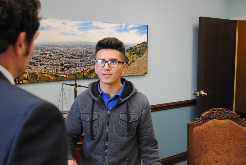 Javier meets with an immigration lawyer to find out what his options are for going to college. latino