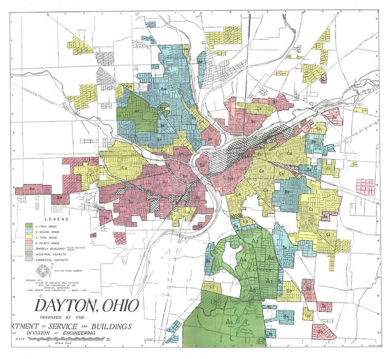 dayton redlining map