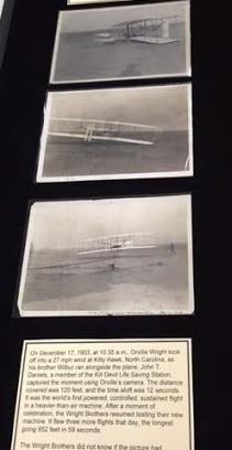 Photos detailing the Wright-B Flyer's flight.