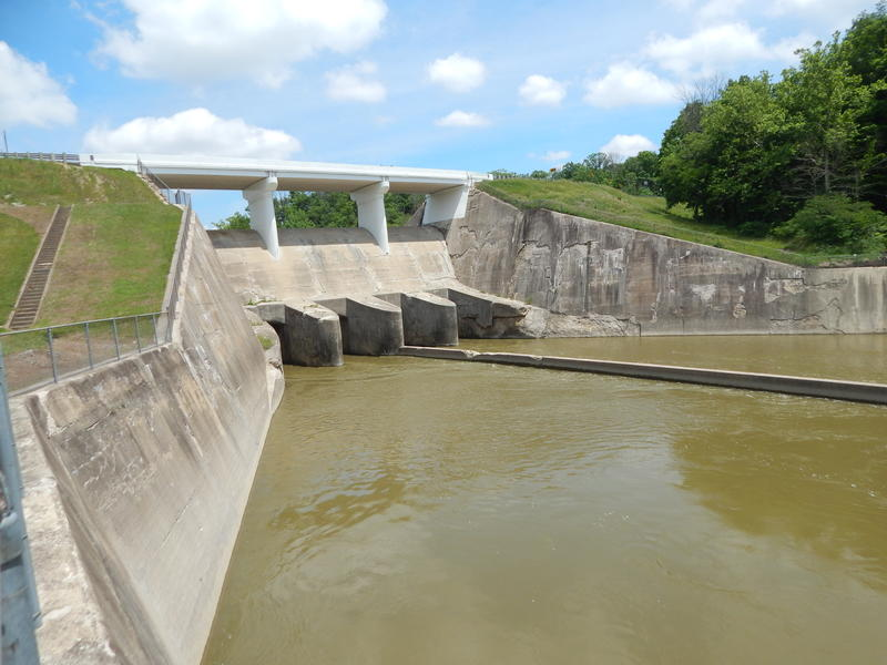 The Taylorsville Dam in Vandalia is one of five dams in the Miami Conservancy District.