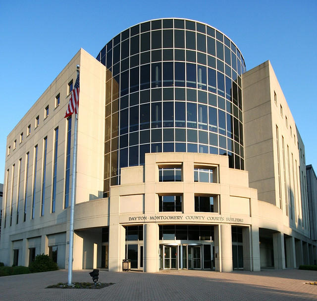 The Montgomery County courthouse. A recent study finds all county prosecutors in Ohio are white.