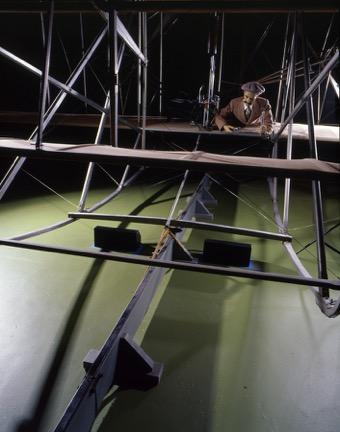 1905 Wright Flyer III catapult rope attached