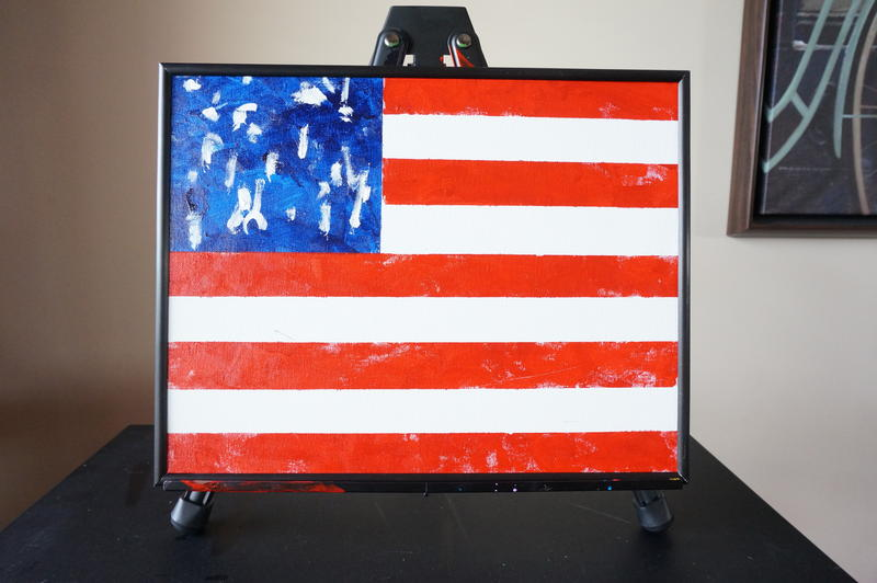 American Flag by Mallory Holler, a local painter who is legally blind, deaf, and quadriplegic.