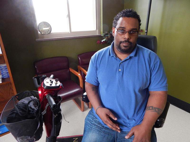 John Dixon works at  Access Dayton, one of the groups leading the push to move the stop. He says if he can't get a ride, a trip to the mall can take hours.