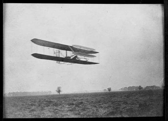 1905 Wright Flyer III over Huffman Prairie.