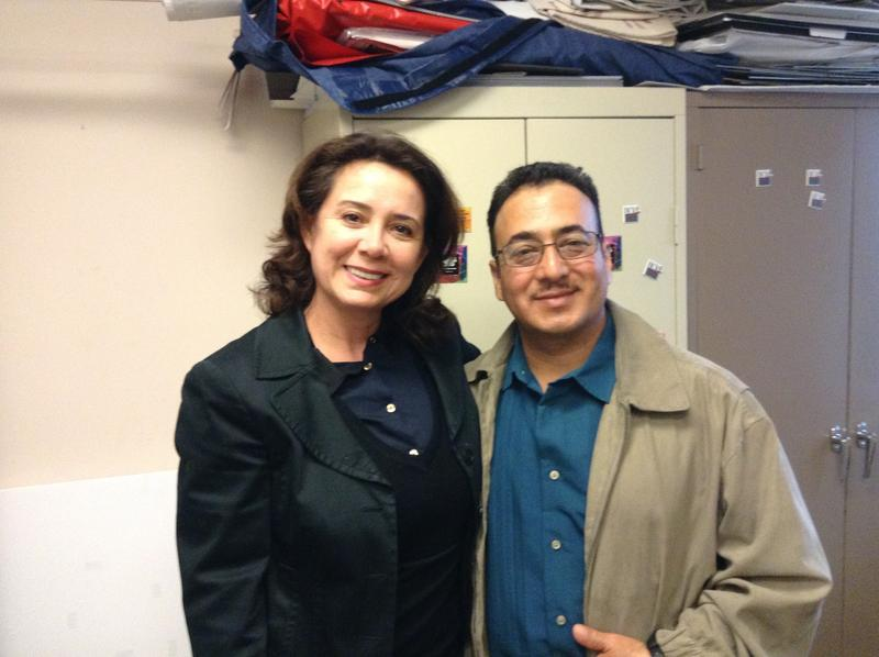 Claudia Cortez-Reinhardt and Ramon Perez at the Dayton League Office