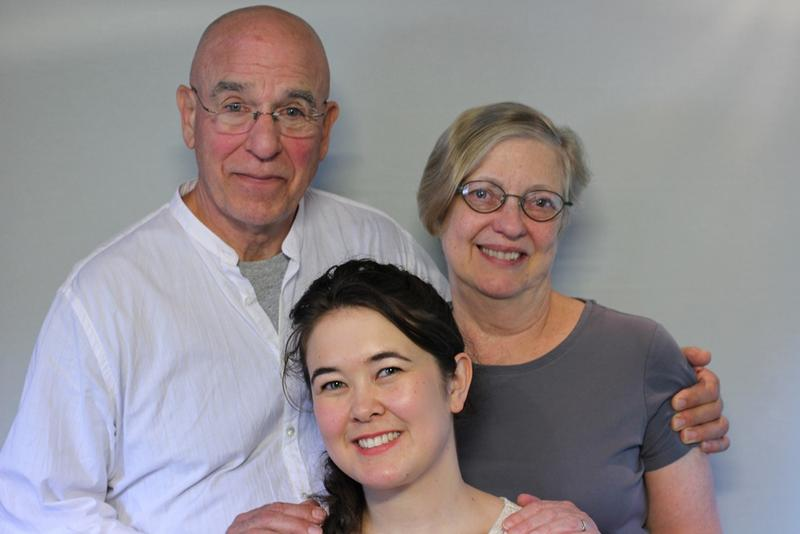 (from left) Richard Lapedes, Helen Lapedes, Maureen Lynch