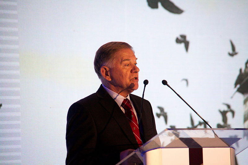 Ivo Komsic speaking in Sarajevo in April 2015