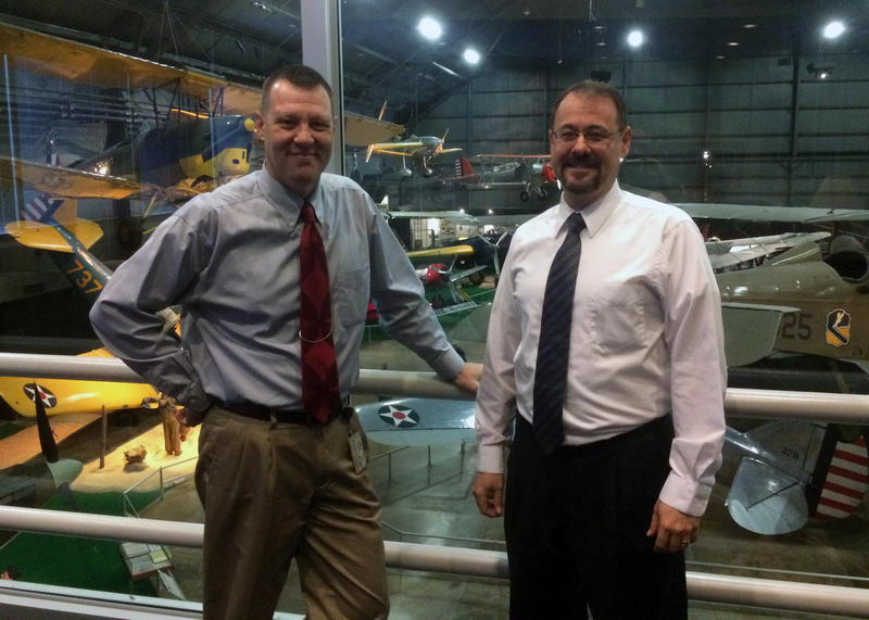 Doug Lantry and Jeff Duford at the National Museum of the United States Air Force