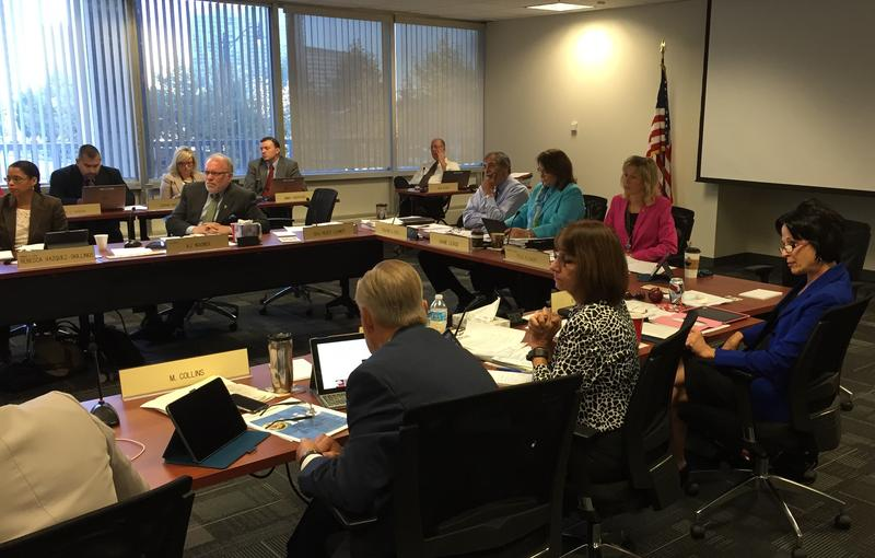 Ohio Department of Education Superintendent Richard Ross sitting in the State Board of Education Meeting