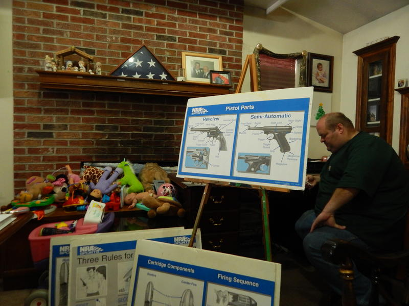 Jesse Mackey teaches NRA-certified gun safety courses out of his home in Xenia.
