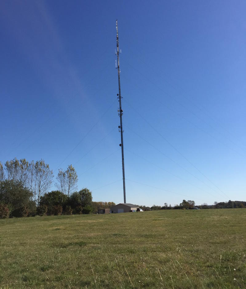 WYSO's new broadcast tower is in Bellbrook near I-675