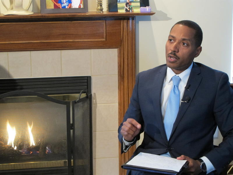 State Rep. Kevin Boyce (D-Columbus) sits in his living room in northeast Columbus to answer questions.