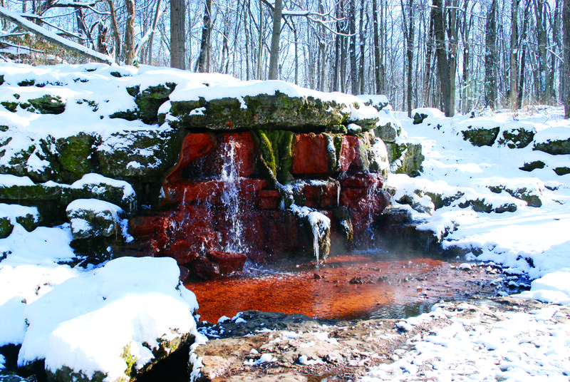 The Yellow Springs in winter glen helen