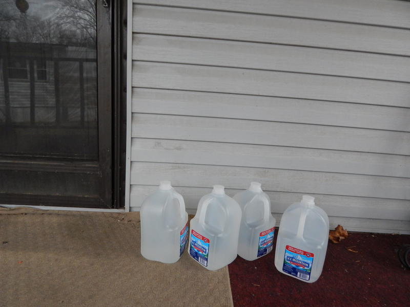 After the state of Ohio filed a lawsuit, the owner of Pineview Estates agreed to bring four gallons of water per trailer each day the water is shut off. Residents have been purchasing their own water for years.  pineview