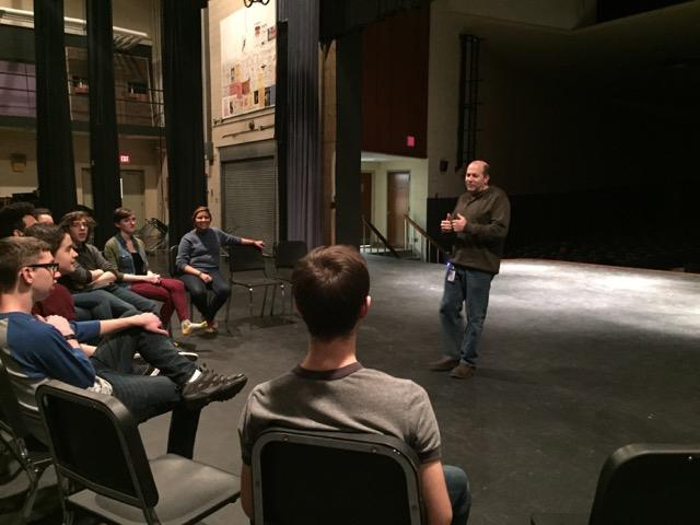 Darren McGarvey at Kettering Fairmont High School, with his cast of Romeo and Juliet