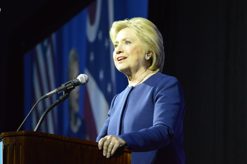 HIllary Clinton speaking at the Ohio Democratic Party Legacy dinner