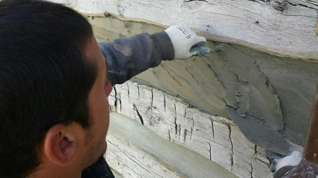 log cabin it chinking caulking home fail between why part lines does cabins wide logs and crack