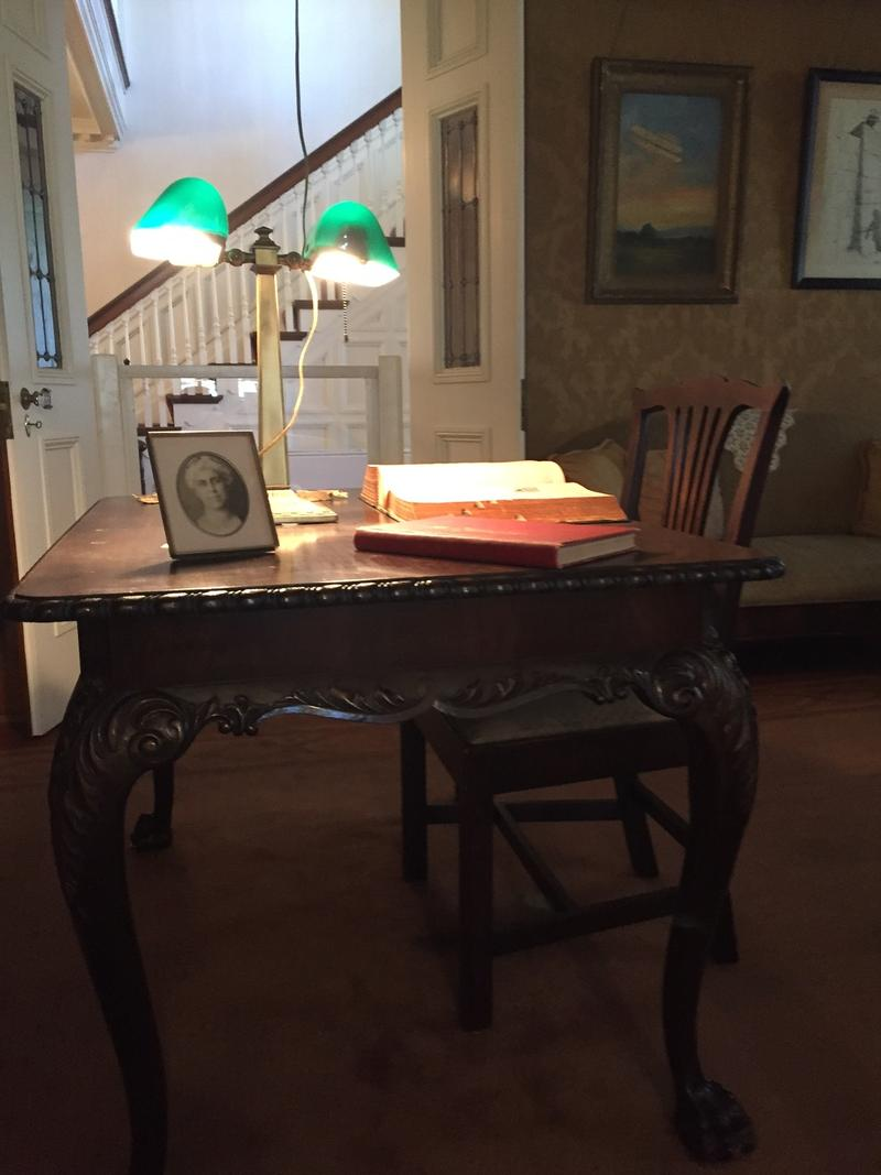 Orville's study is well preservered and looks much as it did when it was used by him.