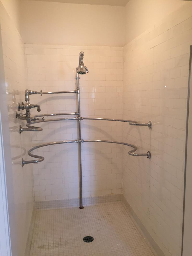 This directional spray shower was designed by Orville.