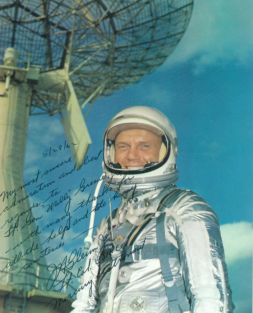 John Glenn, Jr. Signed Photograph to Wallace Greene, Jr., 1962 - From the Wallace M. Greene, Jr. Collection (COLL/3093), Marine Corps Archives & Special Collections