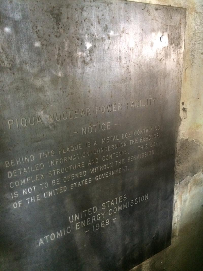 Behind this plaque is a time capsule that can only be opened when radiation levels are low enough by the Department of Energy's standards. That could take more than 90 years.