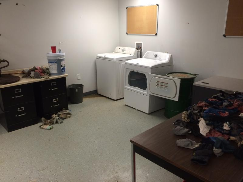 The health physics lab today. It's now used as a laundry room.