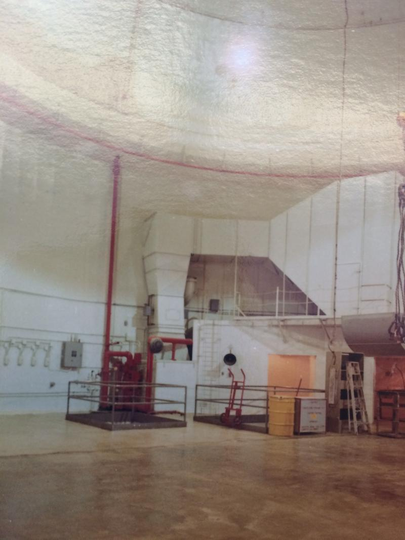Ground floor of the reactor building. Using an organic compound as a coolant meant that people could work inside the reactor while it was running. This is another photo taken by plant supervisor Karl Seyfrit shortly after the reactor closed.