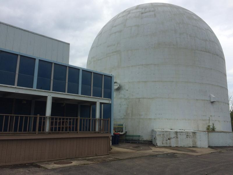 Piqua's old reactor building, and the auxiliary building for the reactor. Today the dome is a warehouse, and the auxiliary building is mostly office space. Click on the picture above for a photo tour of the reactor then and now.